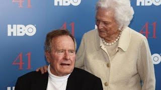 George H.W. Bush, Barbara Bush hospitalized