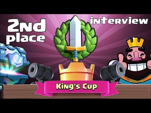 Clash royale - KINGS CUP 2nd Place Player INTERVIEW!! (Advanced tips