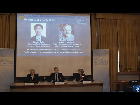 Announcement of the Nobel Prize in Physics 2015