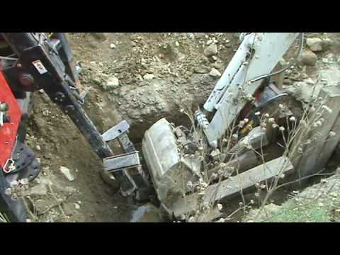 pipebursting into open excavation - ted berry co inc