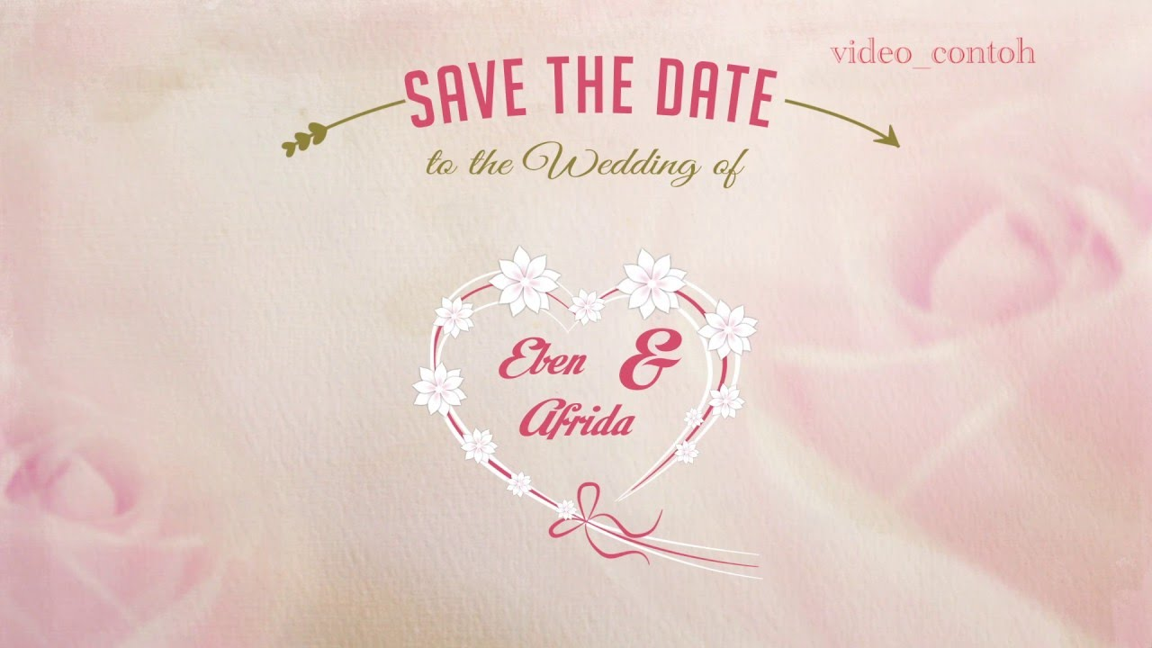 Contoh Wedding Invitation Youtube