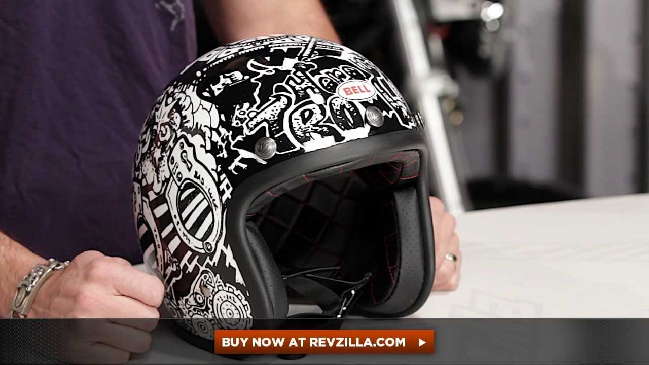 Bell Motorcycle Helmet >> Bell Custom 500 Roland Sands Trouble Helmet Review at RevZilla.com - YouTube