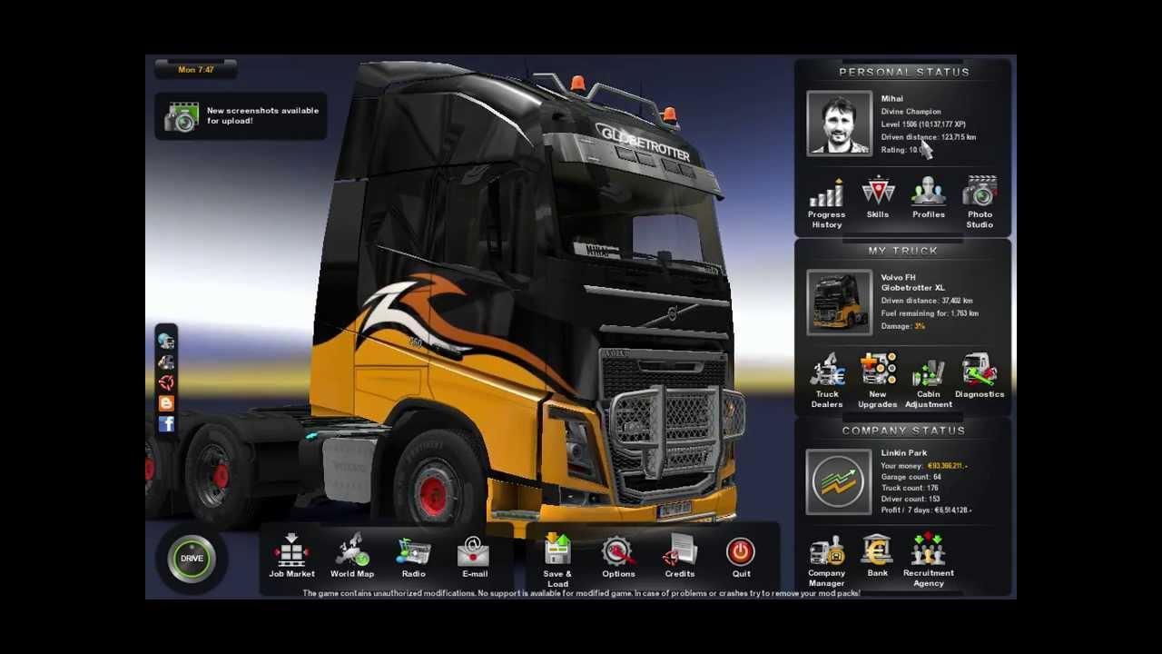 Euro truck simulator 2 сохранения