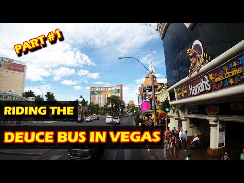 Las Vegas Deuce Bus on the Las Vegas Strip in 4K - Part 1/2 Northbound