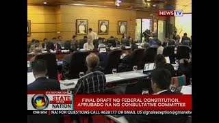 SONA  Final draft ng federal constitution 8a464500fe6