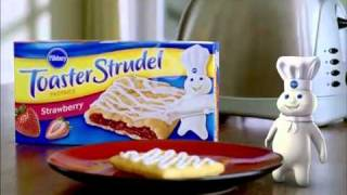 Repeat youtube video Pillsbury Toaster Strudel Commercial With Totino's Pizza Rolls Commercial