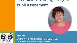 sample technician training program pupil assessment