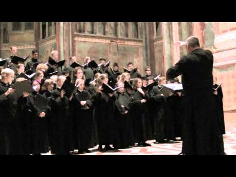 Cathedral of the Madeleine Choir performing Nativitie in Assisi, Italy.