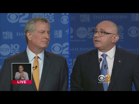 Bill de Blasio, Sal Albanese Democratic Mayoral Primary Debate