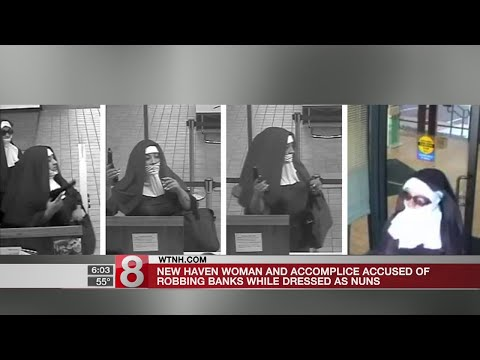 New Haven woman accused of robbing banks while dressed as nun - Dauer: 28 Sekunden