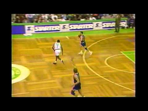 Reggie Lewis: One Handed Slam In Traffic Vs Cleveland