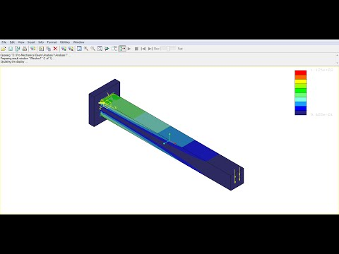 Pro E Mechanica Creo Simulate Wildfire Tutorial Video | Structural FE Analysis | Beginner | GRS |