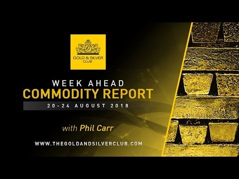 WEEK AHEAD COMMODITY REPORT: 20-24, August 2018: Gold, Silver & Platinum Price Forecast