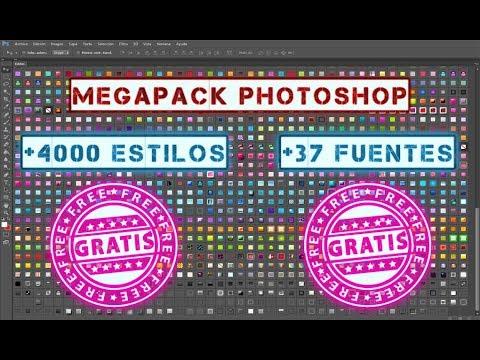 MEGAPACK 😎 DE ESTILOS Y FUENTES PARA PHOTOSHOP 2019 | 😱 +4000 ESTILOS & +37 FUENTES 😱