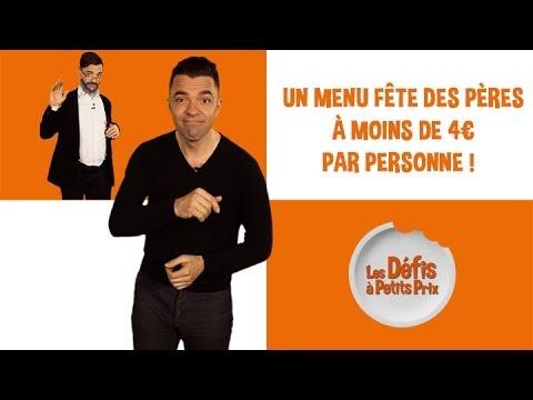 Menu Fête des Pères à moins de 4 € - Défis à Petits Prix