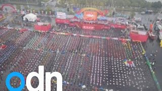 Guinness World Records Day 2014: 25,703 people set new line dance world record in China