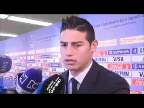 JAMES RODRIGUEZ POST REAL MADRID VS KASHIMA MATCH INTERVIEW (TRANSLATION IN DESCRIPTION)