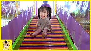 Indoor Playground Learn Kids Fun Colors Color Ball Rainbow Slide for Play Family | MariAndKids Toys