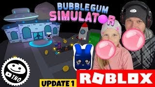 😱 to SPACE ON a CHEWING gum [😍 NEW EGG] Bubble Gum Simulator | Roblox | Daddy and Barunka CZ
