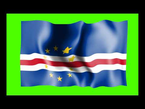 Cape Verde Waving Flag Green Screen Animation - Free Royalty Footage