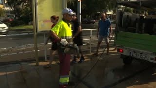 Clean up underway in Spain's Cambrils following attack