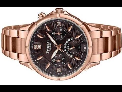 Casio Sheen SHE-3047PG-5AUDR (SX262) Rose Gold Women's Watch.