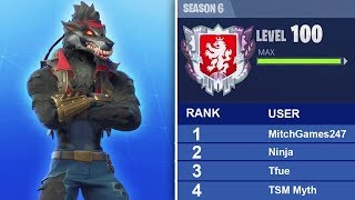 UNLOCKING MAX DIRE SKIN! 15 WINS THIS SEASON! FORTNITE BATTLE ROYALE SEASON 6 TIER 100 GAMEPLAY!