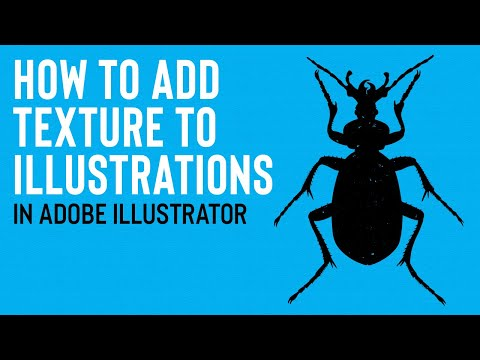 ILLUSTRATOR TUTORIAL | How to Apply Textures to Illustrations thumbnail