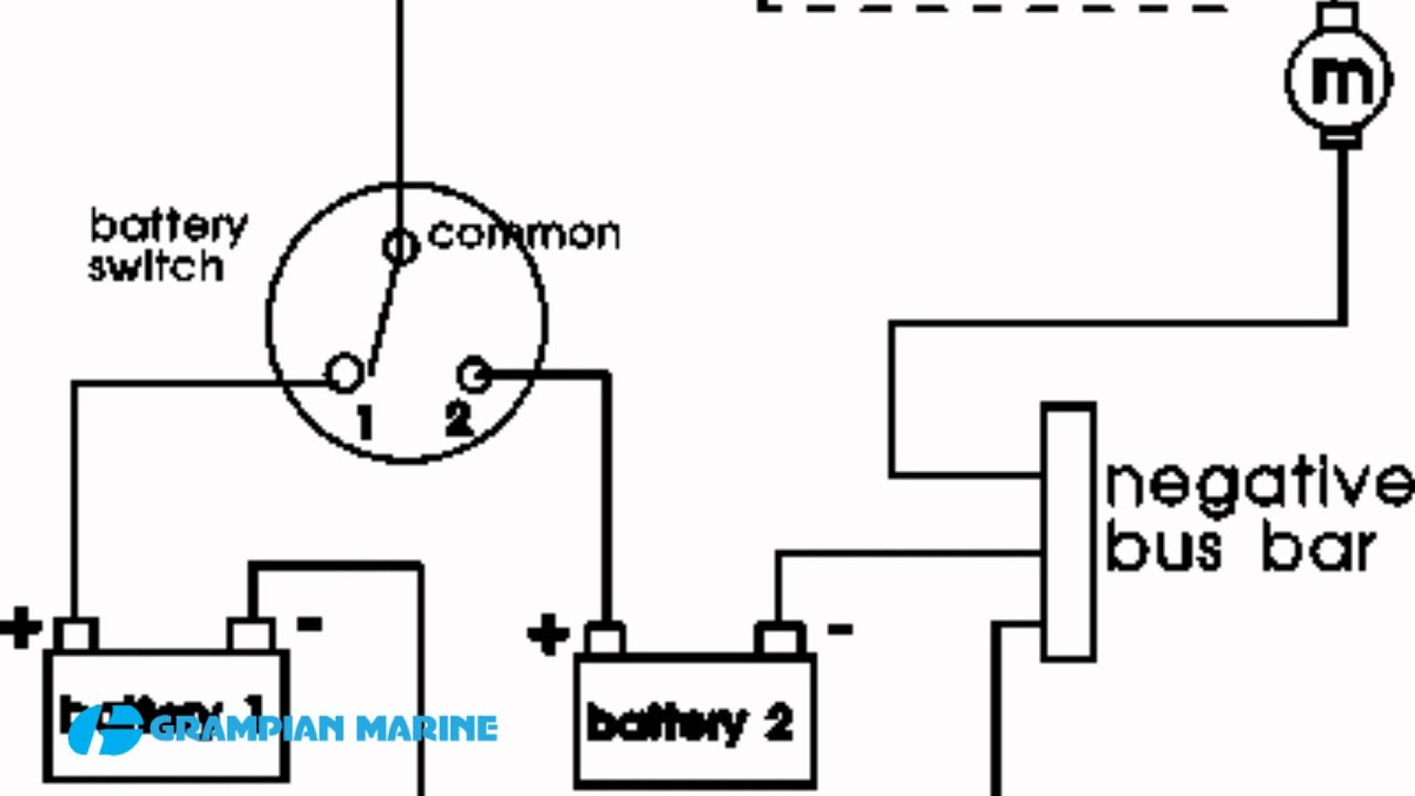 guest dual battery switch wiring diagram installing a second battery in a boat youtube  installing a second battery in a boat
