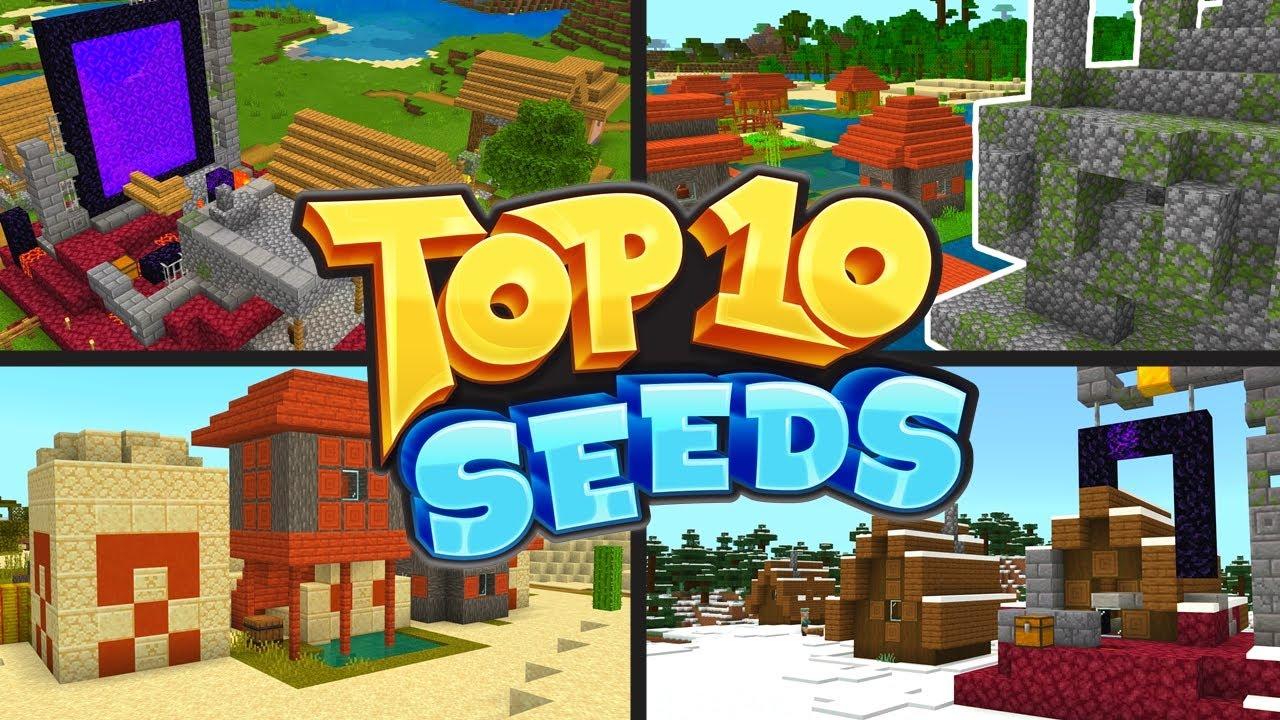 TOP 10 BEST NEW SEEDS For Minecraft 1.16   BROKEN VILLAGE SEEDS! (PE, Xbox, PS4, Switch & W10)