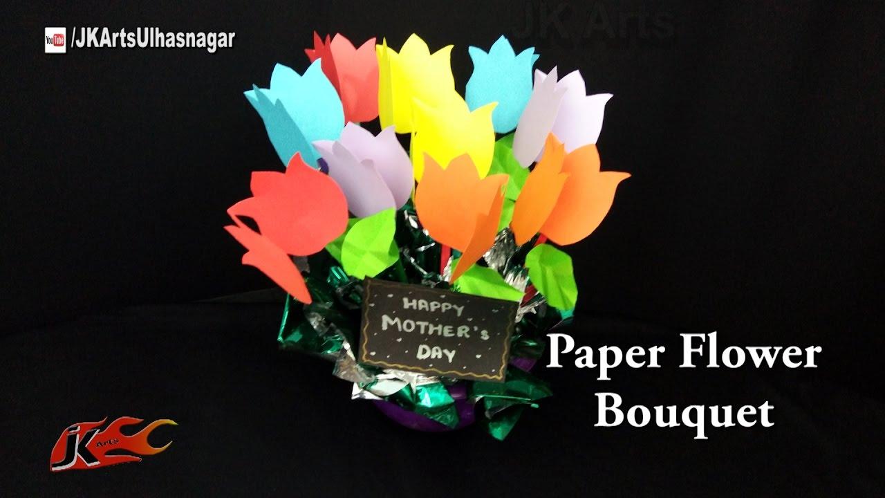 diy paper flower bouquet tutorial mothers day gift idea jk arts 1196