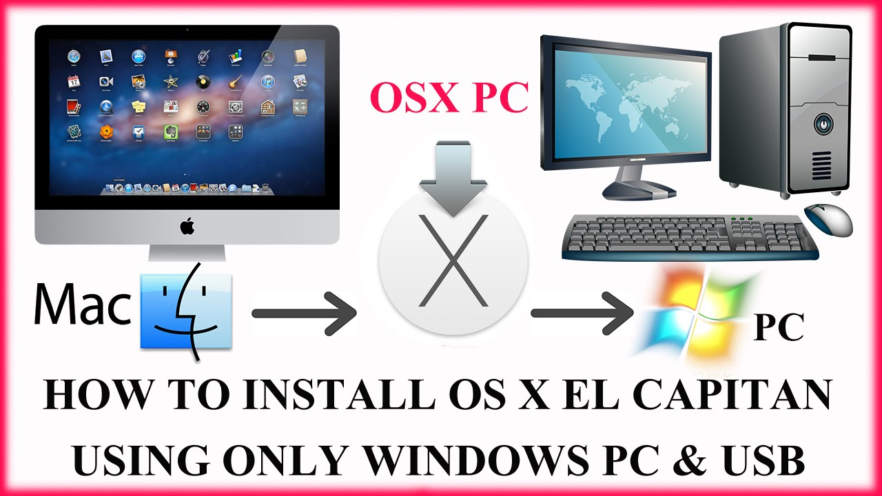 Install OS X El Capitan, Sierra Using Only Windows - Without: AHCI or  Working MAC