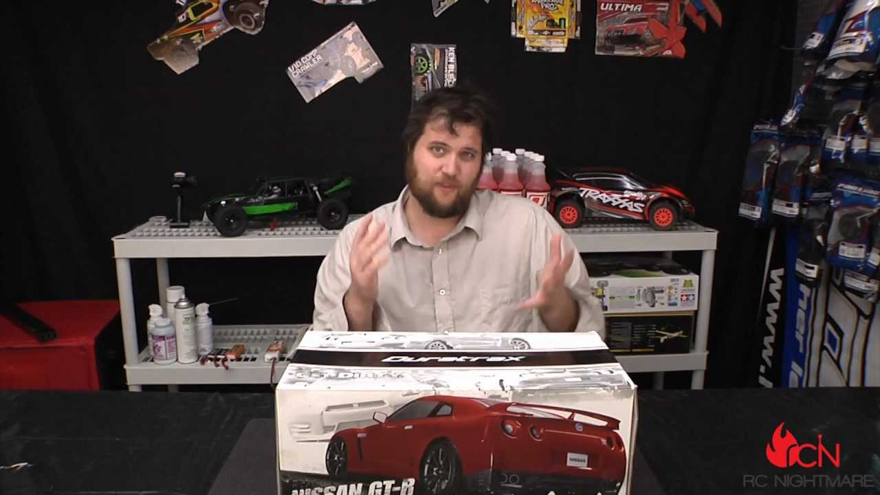 Duratrax Nissan Gt R 1 10 Scale Nitro On Road Rc Unboxing