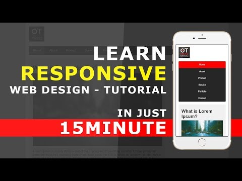 Responsive Web Design In Just 15 Minutes - How to Use Media Queries in Responsive Web Design