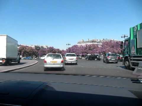 Taxi ride through the Arc de Triomphe traffic circle