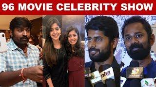 96 Movie Celebrity Show    #VijaySethupathi #Trisha #96Movie #Kollywood #kalakkalcienma