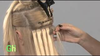Наращивание волос на лентах