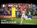 Mario MANDZUKIC Goal     France v Croatia   2018 FIFA World Cup    FINAL
