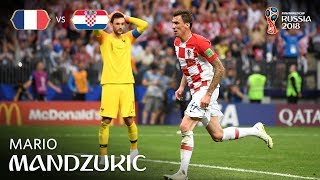 mario mandzukic goal  france v croatia - 2018 fifa world cup final