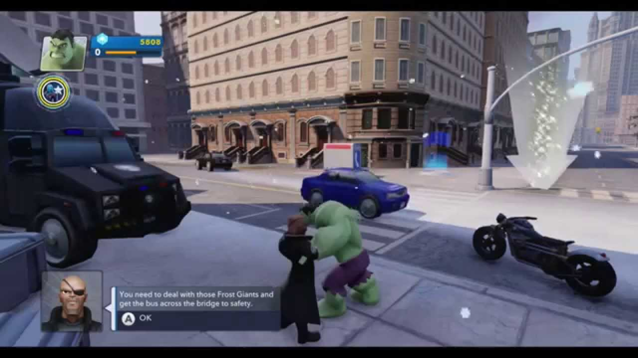 Disney Infinity 2 0 The Avengers Wii U Gameplay Youtube