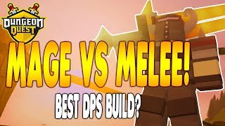 MIGLIORE DPS BUILD! Melee vs Mage DPS in Dungeon Quest Roblox iBeMaine