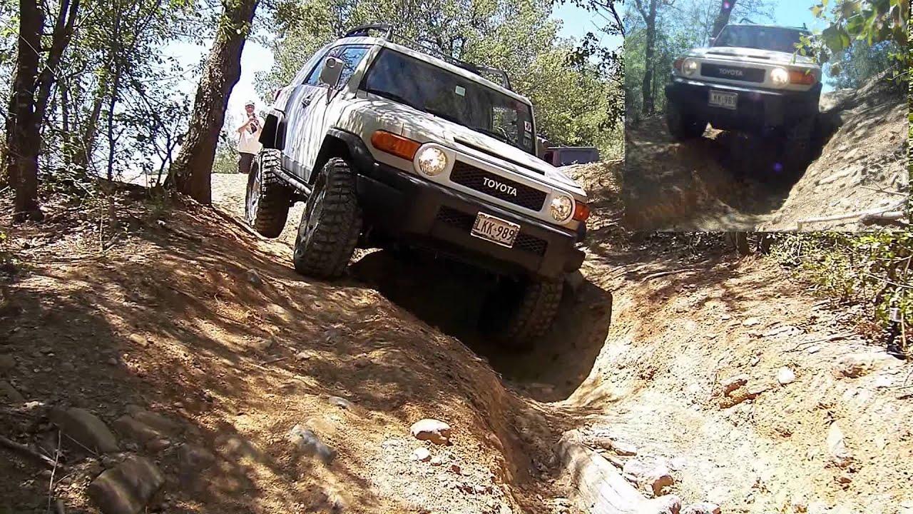 Jeep Rubicons Vs Fj Cruiser: Bridgeport OHV Park   Washout Flex Test    YouTube