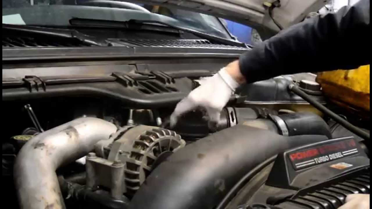 hight resolution of how to change the oil and filter on a 2006 ford f350 6 0 diesel