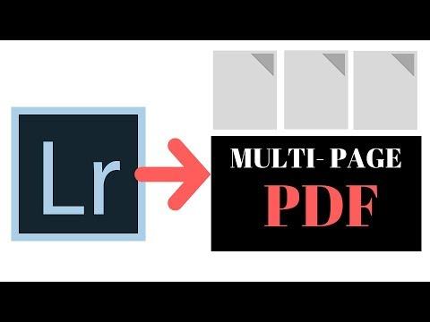 Lightroom - Export to multi-page PDF file