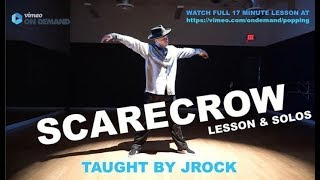 ADVANCED POPPING DANCE TUTORIAL (SCARECROW STYLE) BY JROCK