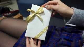DIY 斜向緞帶禮盒綁法 ♥ 禮物包裝 ♥ 情人節 ♥ 聖誕節