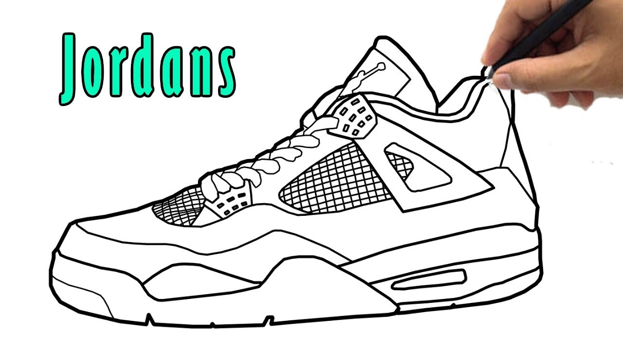 Parity Shoe Drawing Jordans Up To 64 Off
