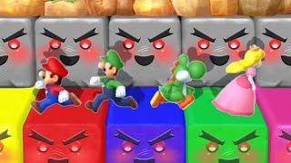 Mario Party 10 MiniGames - Mario Vs Luigi Vs Yoshi Vs Peach (Master Cpu)