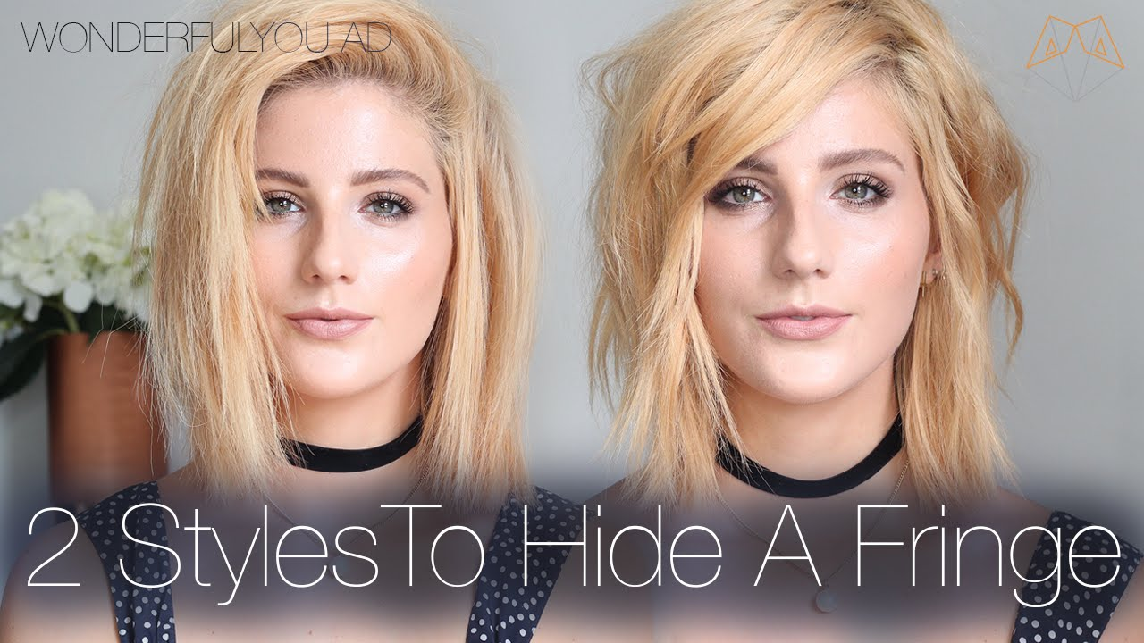 2 styles for growing out or hiding a fringe / bangs | wonderful you