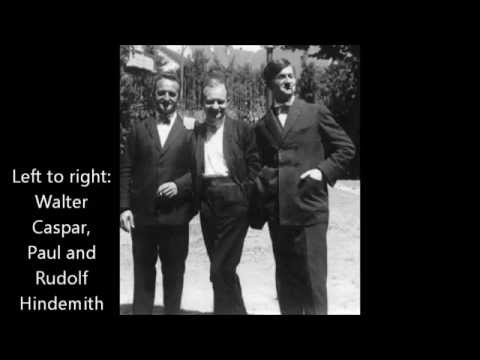 Hindemith: Trio, Op. 34 - First and second movements (Amar Trio, 1927)